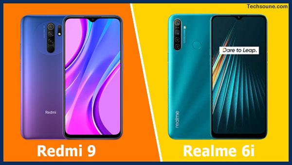 Redmi 9 vs Realme 6i: مقارنة شاملة