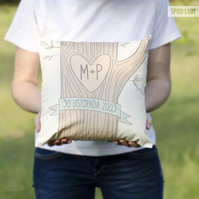 poduszka personalizowana prezent na ślub