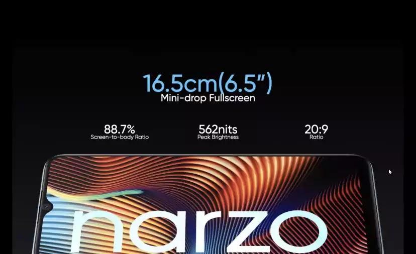 realme narzo 20 display