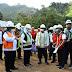 Gubernur Jawa Timur Bersama Bupati  Tulungagung Tinjau Pembangunan Jalur Lintas Selatan