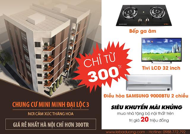 Khuyến mại lớn khi mua chung cư mini Minh Đại Lộc 3