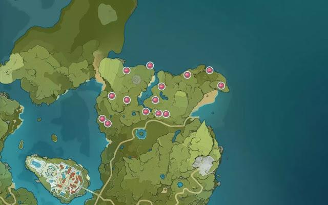 Peta Lokasi Valberry Genshin Impact