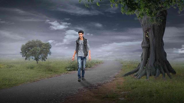 Alone Boy Walking On Amazing Nature Road Picsart Tutorial