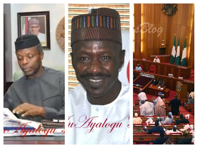 Osinbajo Currently In Closed-Door Meeting With Acting DSS DG And Ibrahim Magu