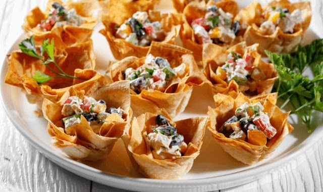 Egg Salad Wonton Cups Appetizers
