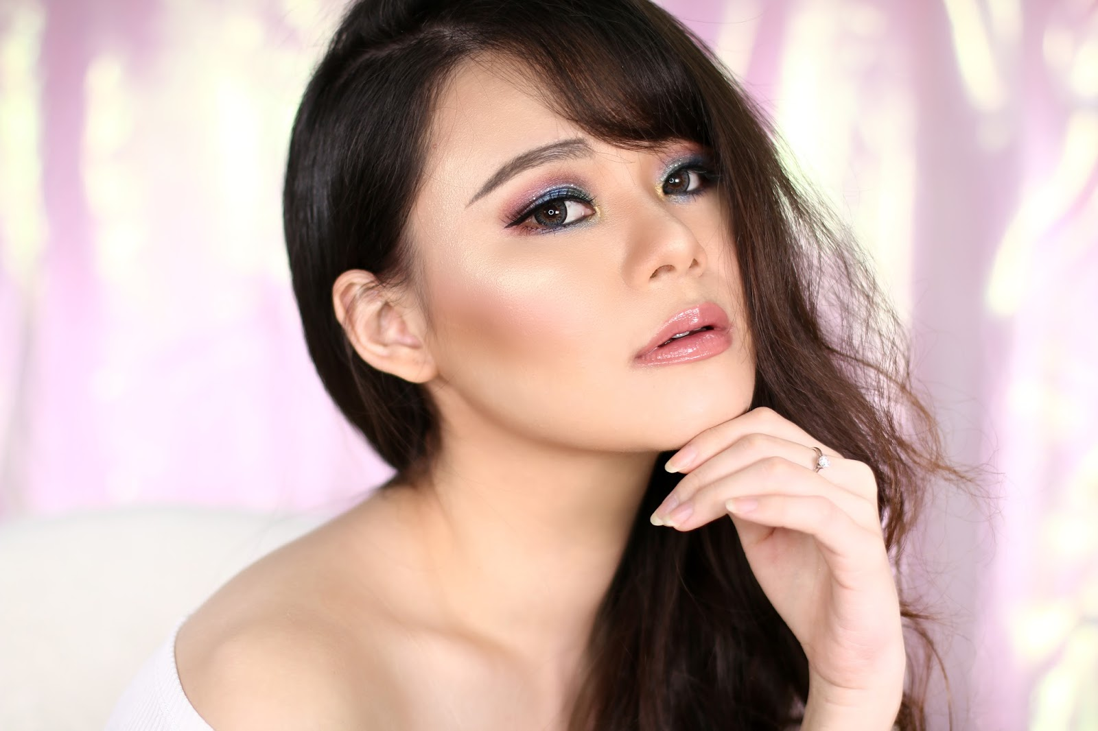makeup, makeup tutorial, tutorial makeup, glam makeup unicorn makeup, colorful makeup, glam, beauty, jean milka, beauty blogger indonesia