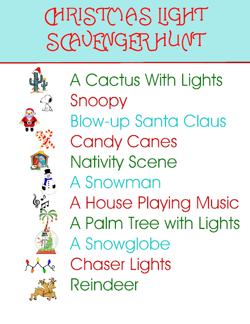 Southwest Style Christmas Light Scavenger Hunt