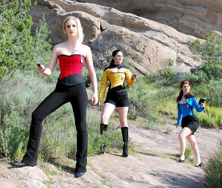 Star Trek space cadets on mission cosplay