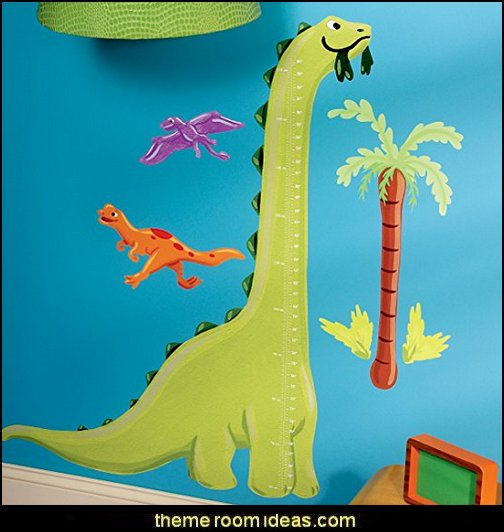 Wallies Wall Decals, Dino Growth Chart Wall Sticker