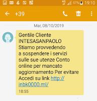 Gruppo ISP sms truffa