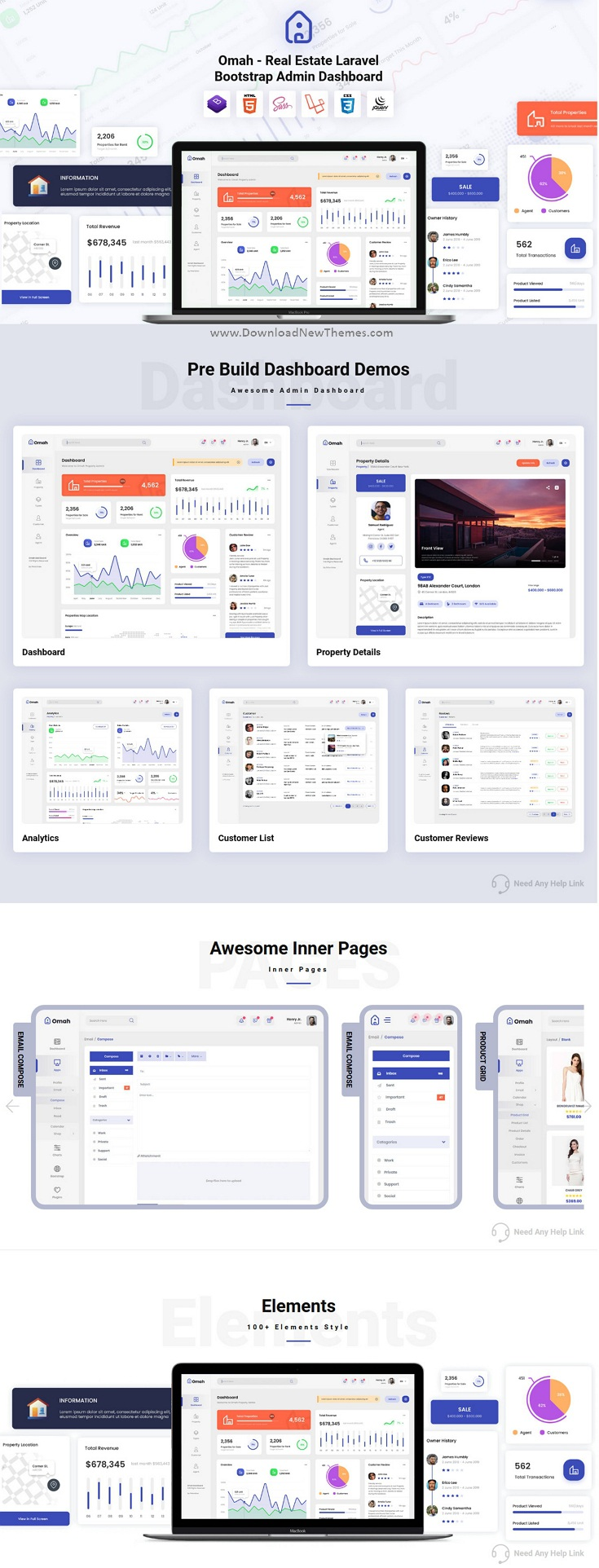 Real Estate Laravel Bootstrap Admin Dashboard Template