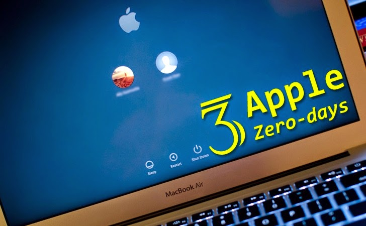 Google reveals 3 Apple OS X Zero-day Vulnerabilities