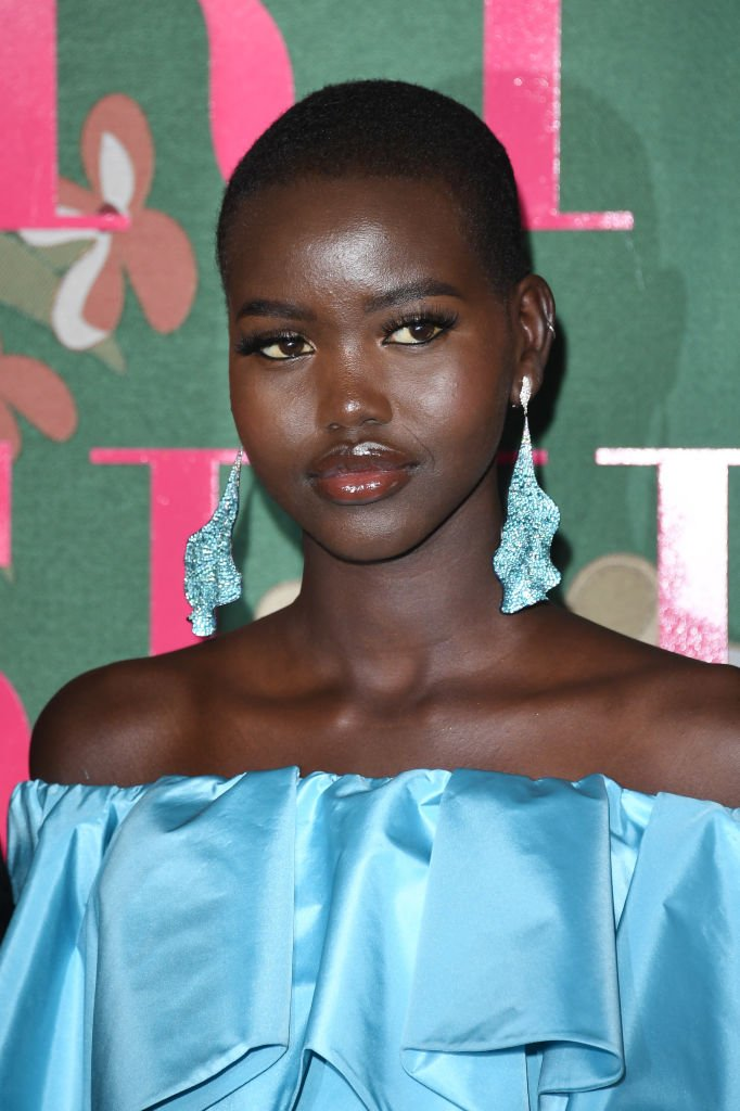Adut Akech at The Green Carpet Fashion Awards 2019