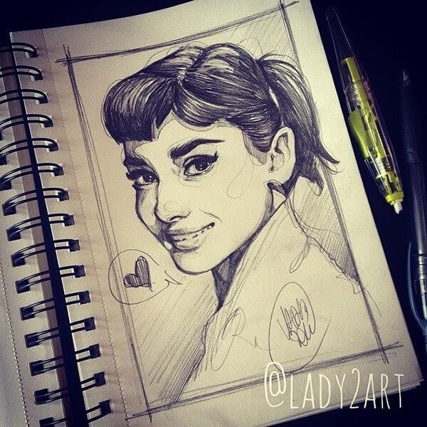 06-Audrey-Hepburn-Katarzyna-Kozlowska-www-designstack-co