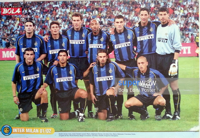Poster Tim Inter Milan 2001