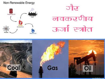 गैर नवीकरणीय ऊर्जा संसाधन
