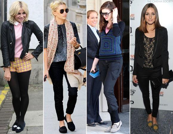 Grande estilo com sapatos slipper é peça confirmada no look de fashionistas e celebridades