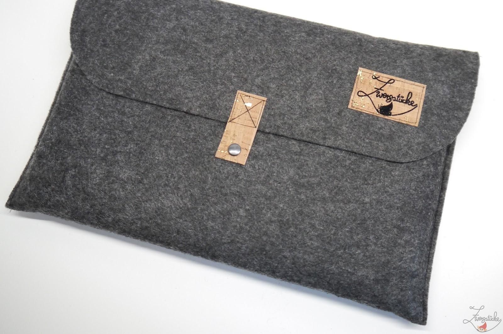 zwergstücke: [Anleitung] Ratz Fatz Laptoptasche aus Filz