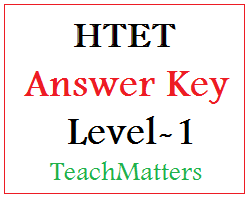 image : HTET Answer Key 2021 - Level-1 PRT @ TeachMatters