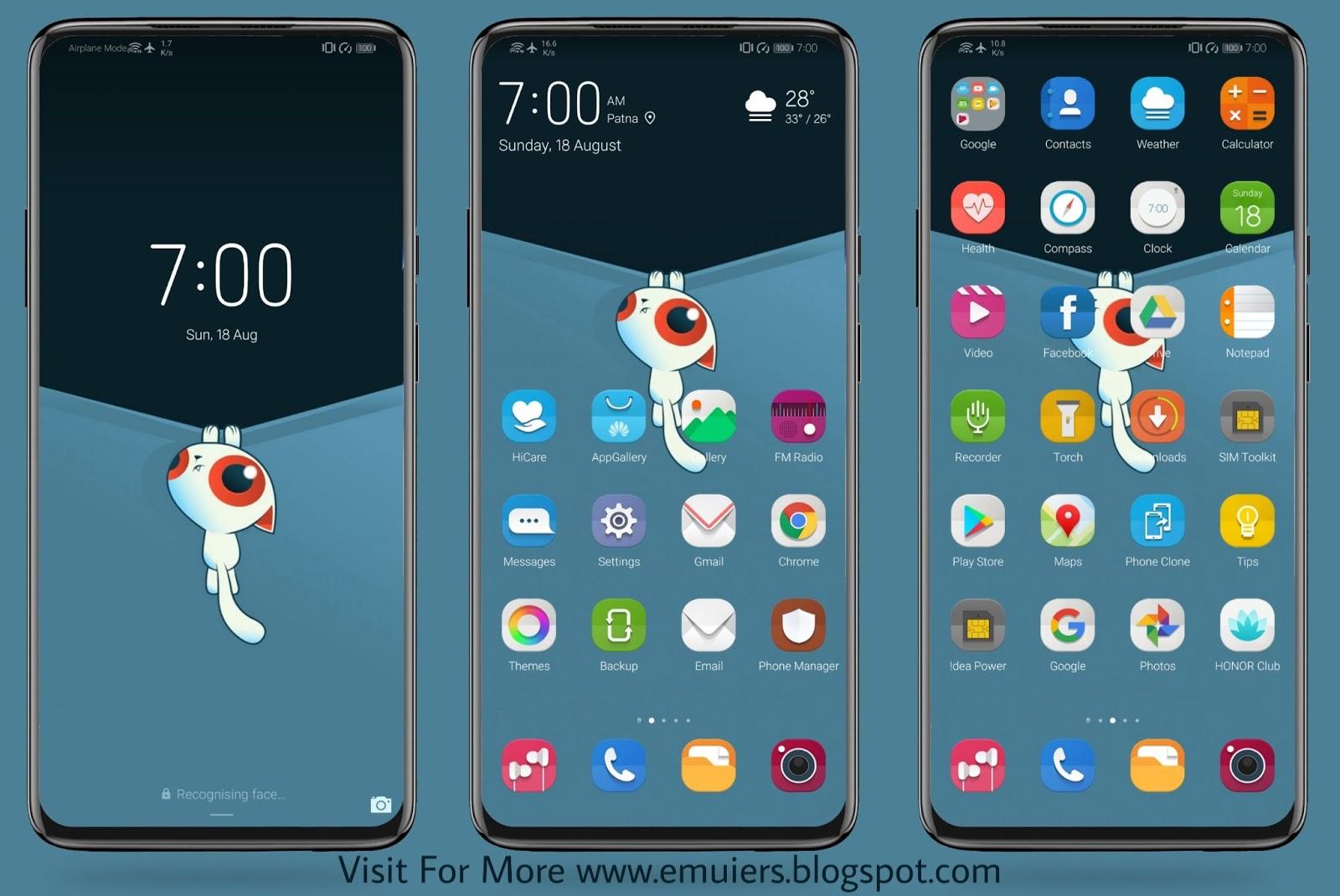 Cute Cat EMUI Theme Download For Huawei & Honor Phones