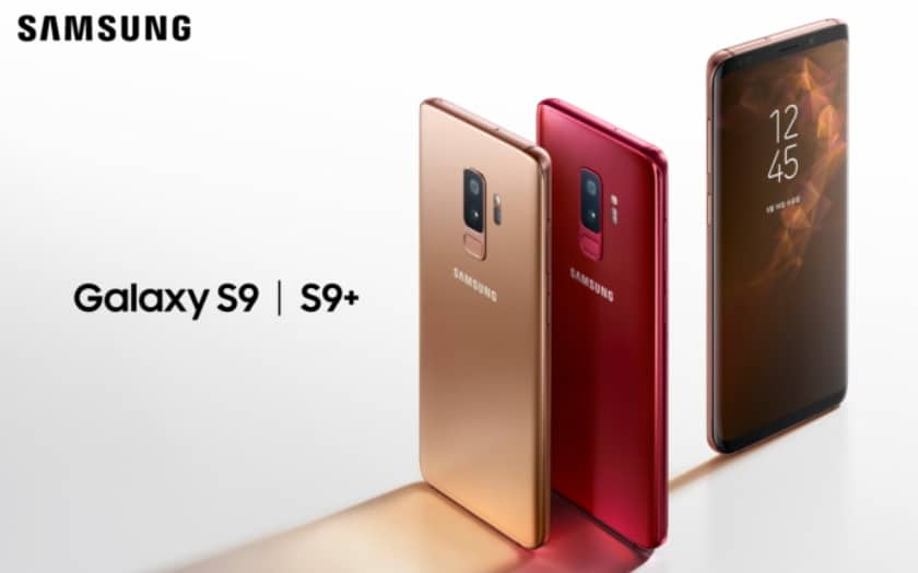 Galaxy-s9-available-in-burgundy-red-and-sunrise-gold-colors