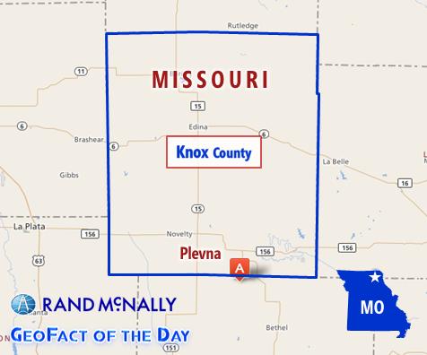 Map of Plevna, Missouri