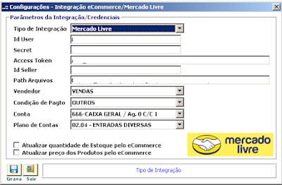 NeXT ERP Integração Mercado Livre e-Commerce
