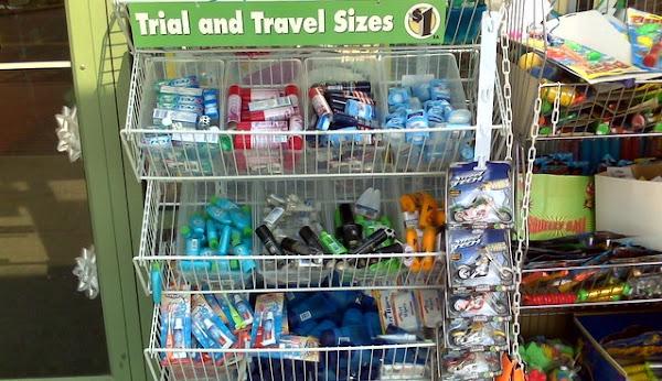 Image: Travel size (Productos en tamaño 'para viajes' en Dollar Tree, New Jersey, Estados Unidos), by Jorge Gobbi on Flickr