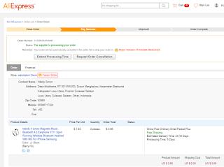 Menunggu konfirmasi seller untuk mengirim produk yang dibeli