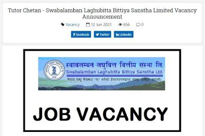 Swabalamban Laghubitta Bittiya Sanstha Limited Job Vacancy for DGM