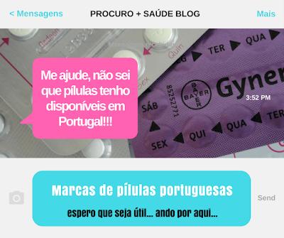 Marcas de pílulas portuguesas