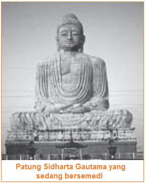 Patung Sidharta Gautama - Perkembangan Agama Buddha di Hindustan