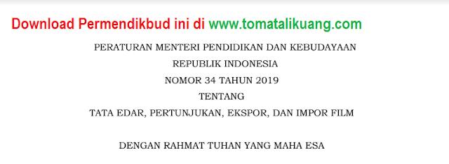 DOWNLOAD PERMENDIKBUD RI NOMOR 34 TAHUN 2019