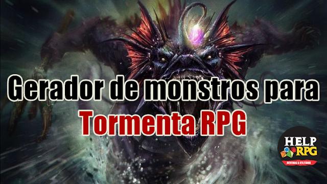 Gerador de monstros para Tormenta RPG