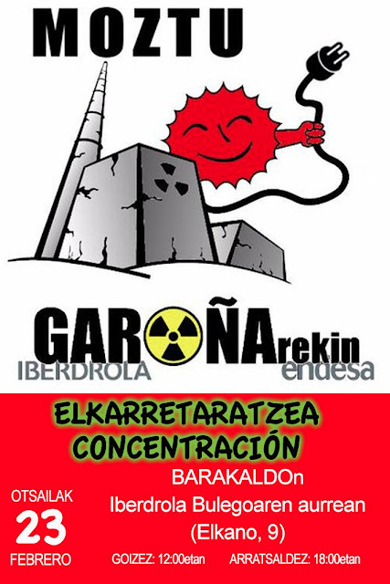 Convocatoria de protestas antiGaroña