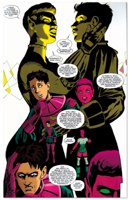 Página dibujada por Javi Rodríguez comic americano