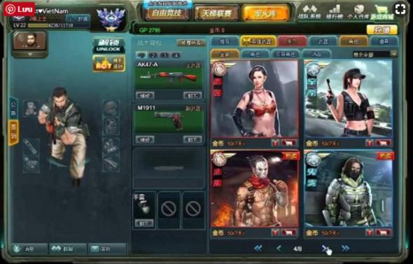 Chơi Game Truy Kích Trung Quốc 4399 bản đẹp, Full Vàng, Tải Truy Kích Mobile  d