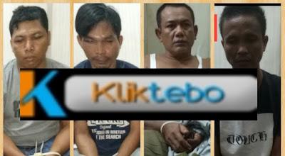 Empat Bandar Narkotika Asal Rimbo Bujang Diamankan Polisi