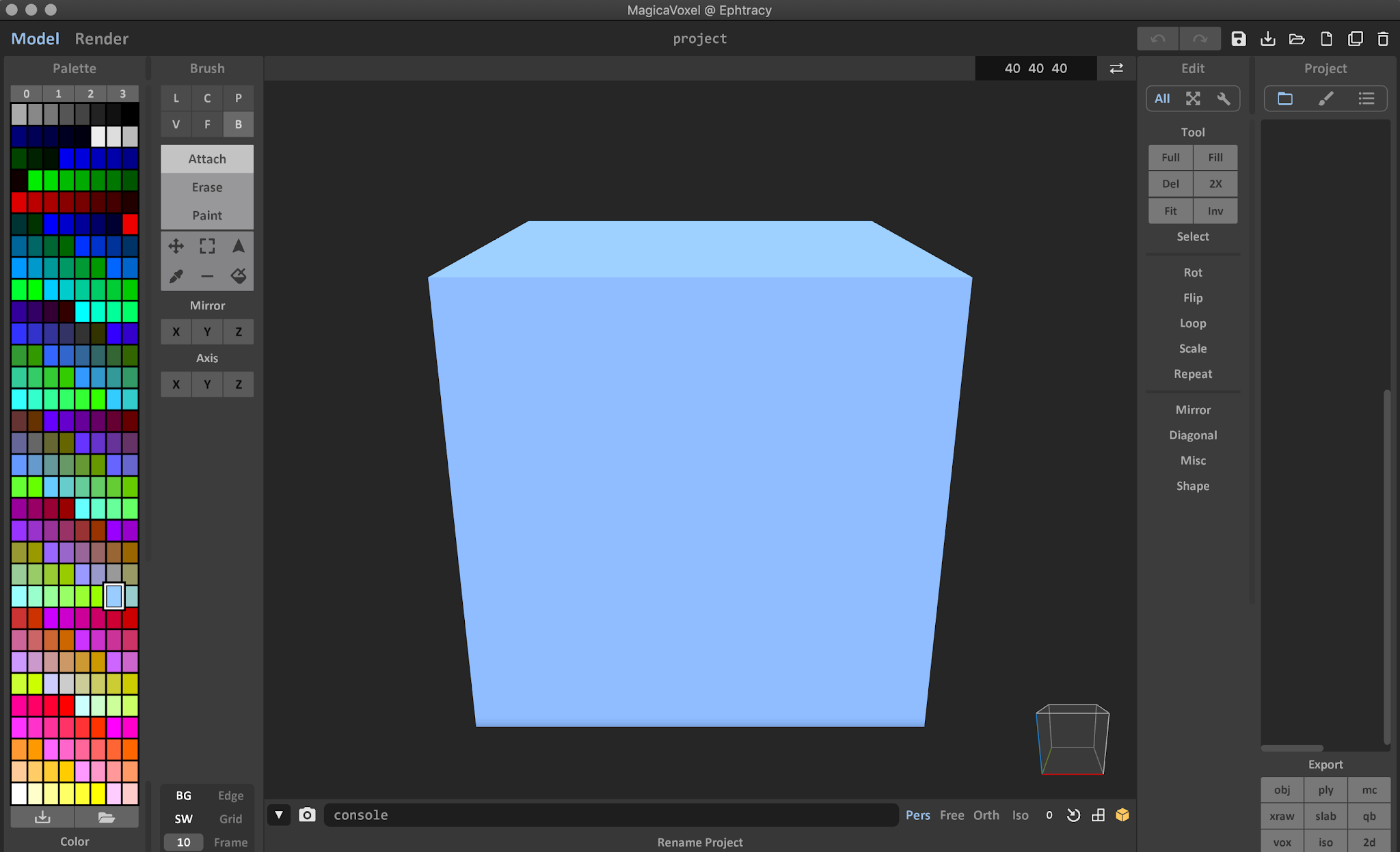 MagicaVoxel Editor Window