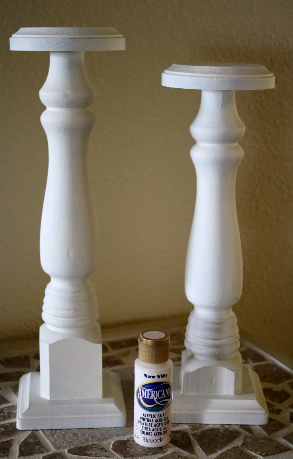 Wooden Leg Candle Holder