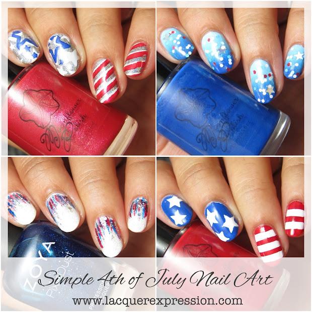 4 simple nail art july