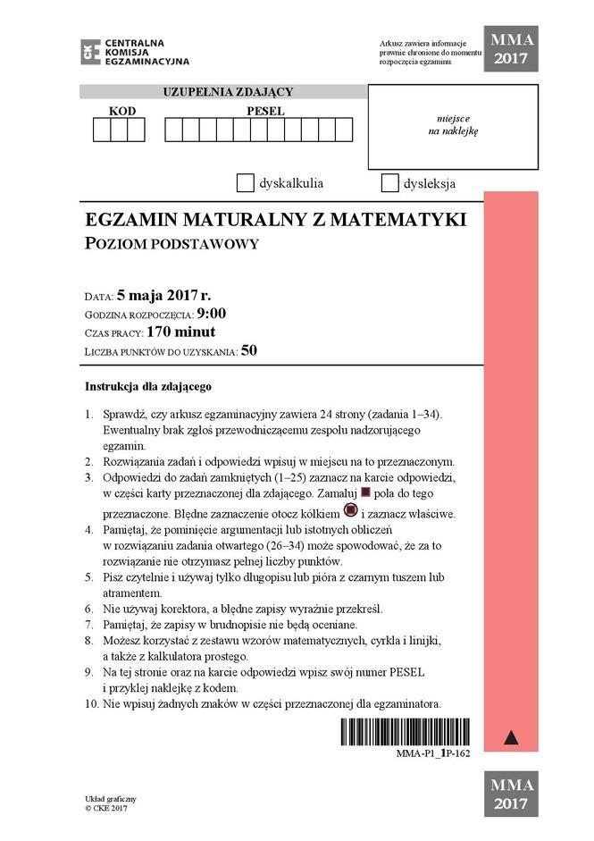 matura maj 2011 matematyka rozszerzona