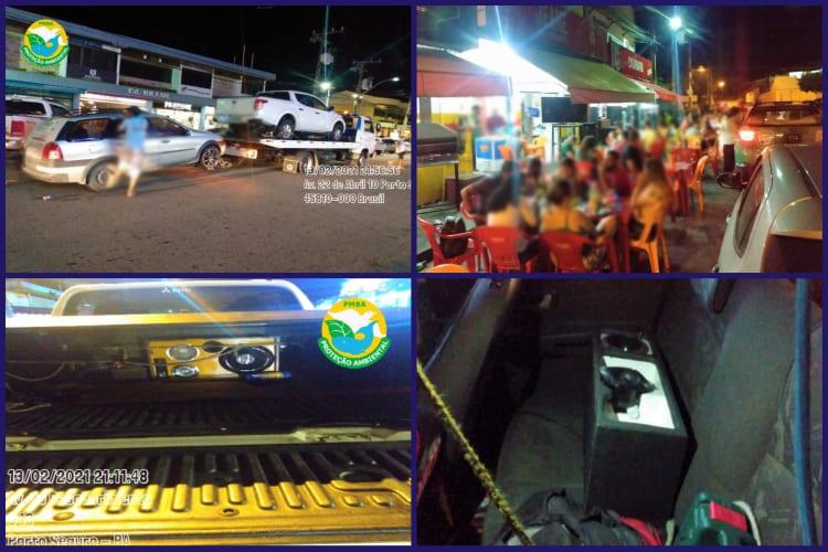 Aparelhos de som apreendidos e bares notificados em Porto Seguro
