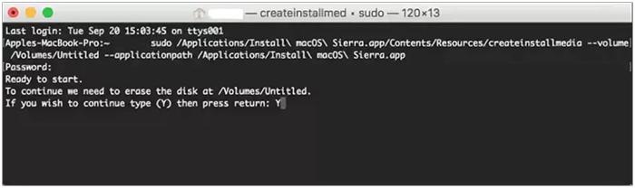 bootable macOS 10.13 High Sierra flash drive