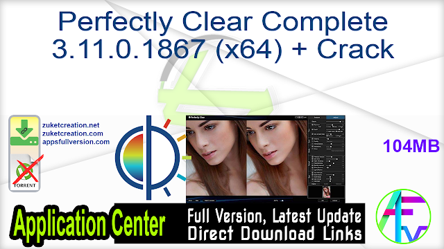 Perfectly Clear Complete 3.11.0.1867 (x64) + Crack