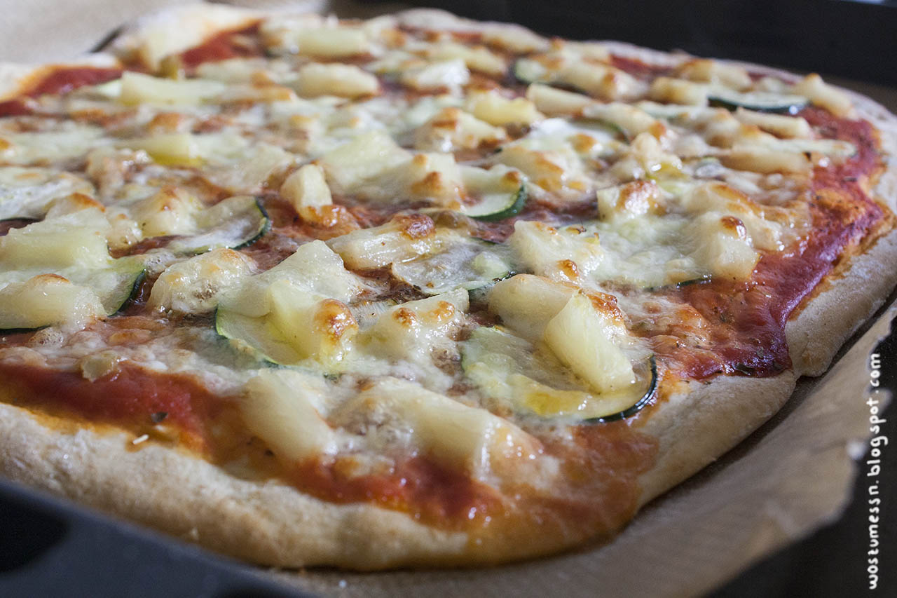 Beliebt Wos zum Essn: Superschneller Pizzateig mit Mandelmilch OW16