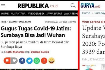 Ngeri, Surabaya Disebut Bis Jadi Seperti Wuhan, Andai Dulu Mereka Mau Mencontoh Jakarta