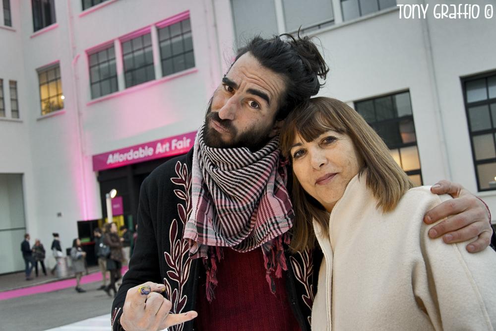 Ivan Tresoldi con Gisella Borioli, proprietaria del Superstudio, scrittrice, giornalista, art-director e molto altro.