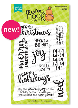 Sentiments of the Season | 4x6 Stamp set with Holiday Sentiments by Newton's Nook Designs #newtonsnook