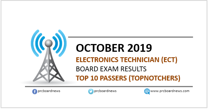 Top 10 Passers: October 2019 ECT board exam topnotchers